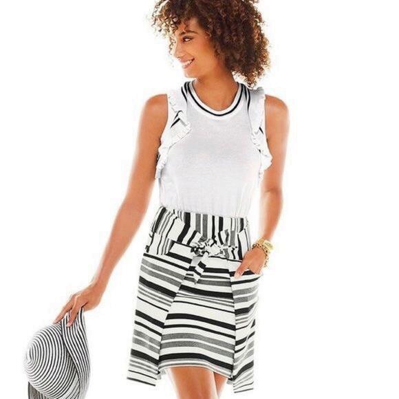CAbi Dresses & Skirts - CAbi Grandstand Stripe Skirt *HOST PICK**